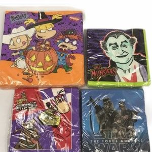 Star Wars Rugrats Munsters Napkins 90s Party